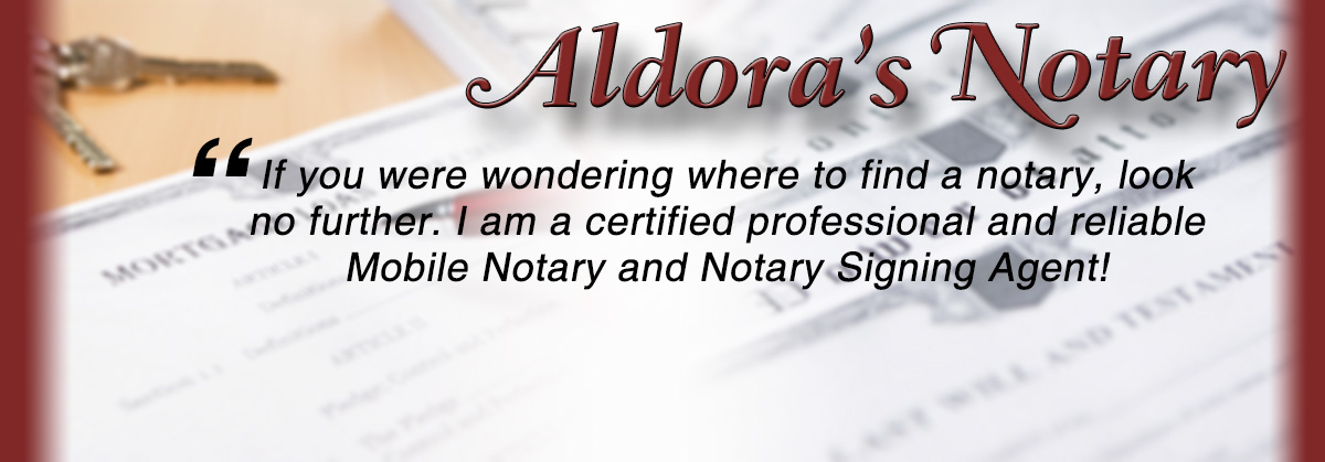 If you were looking to find a notary, look no further, I am a Mobile Notary and Notary Signing Agent